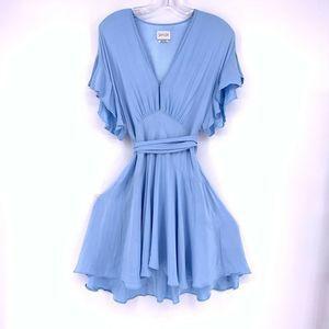 SAYLOR Revolve Blue Fit Flare Mini Dress Small